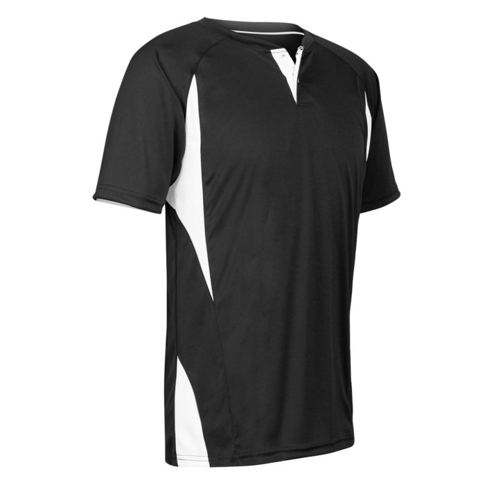 black 2 button baseball jersey