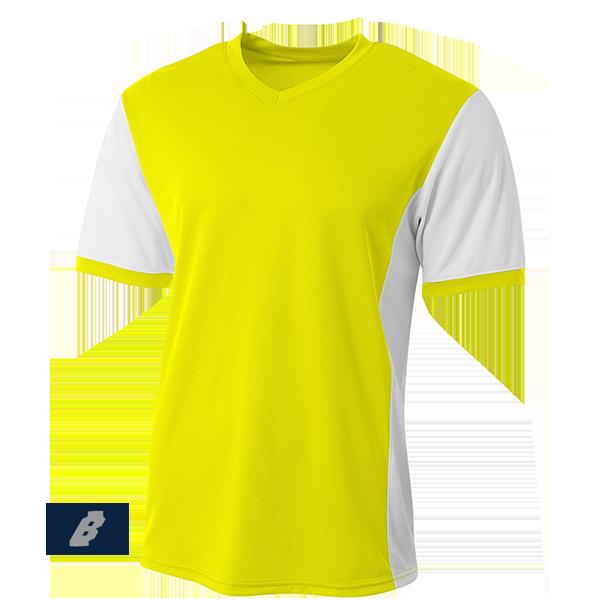 premier soccer jersey neon yellow