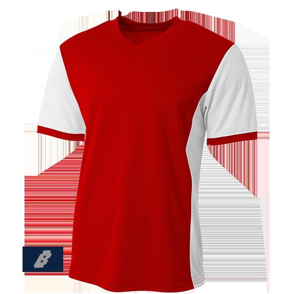 premier soccer jersey scarlet