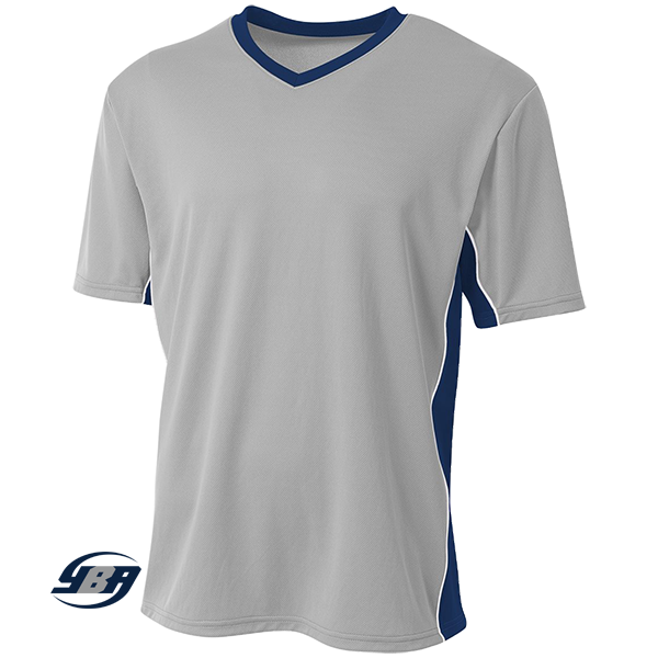 Liga Soccer Jersey silver with navy