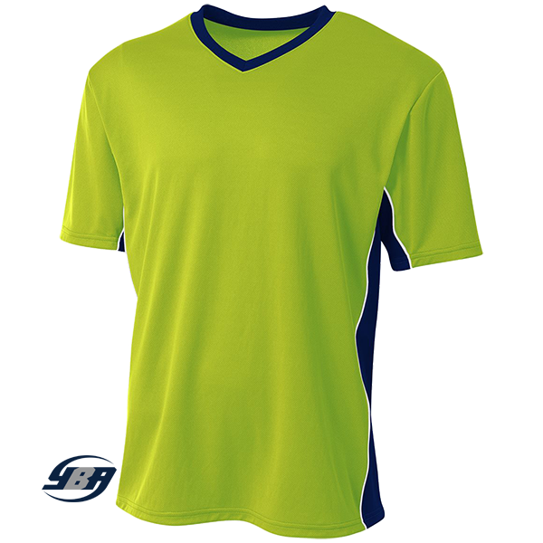 Liga Soccer Jersey lime with navy