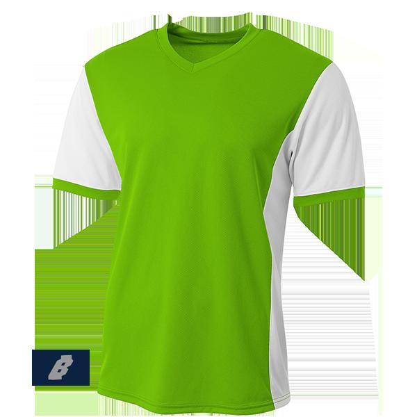 premier soccer jersey lime