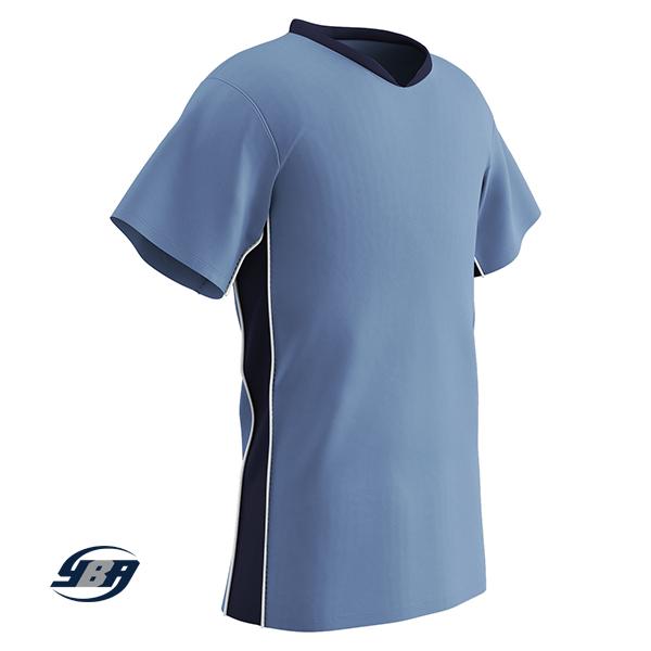header soccer jersey light blue with navy