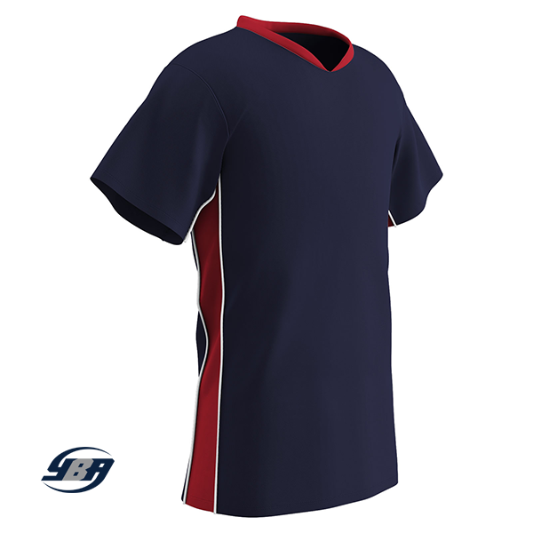 header soccer jersey navy with red