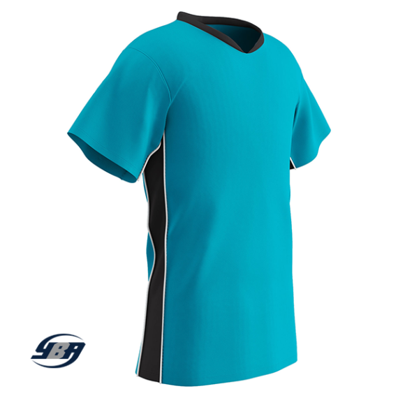 header soccer jersey electric with black
