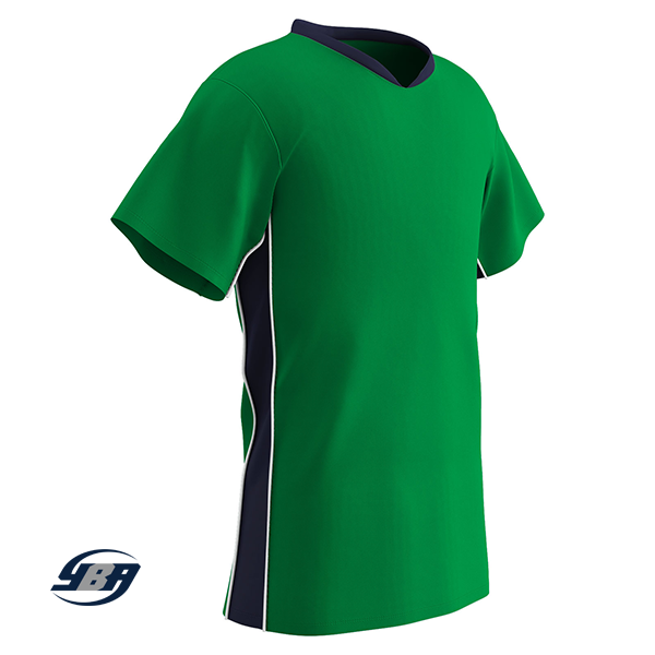 header soccer jersey kelly with black