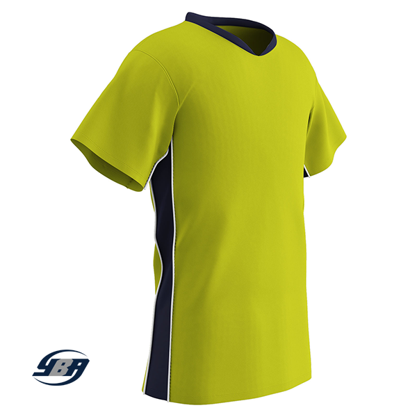 header soccer jersey yellow with navy
