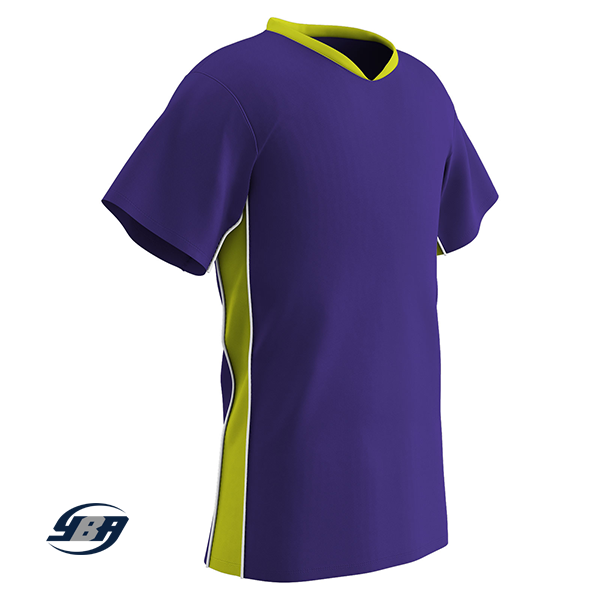 header soccer jersey purple with yellow