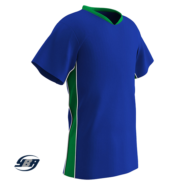 header soccer jersey royal blue with kelly