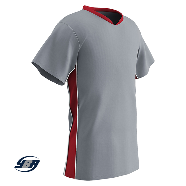 header soccer jersey gray with red