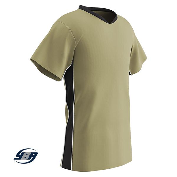 header soccer jersey vegas gold with black