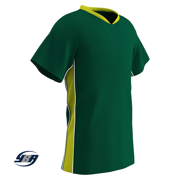 header soccer jersey forest green with yellow