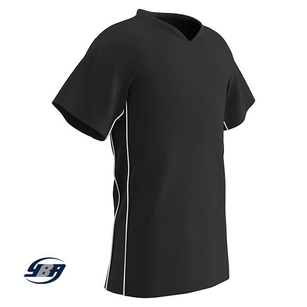 header soccer jersey black