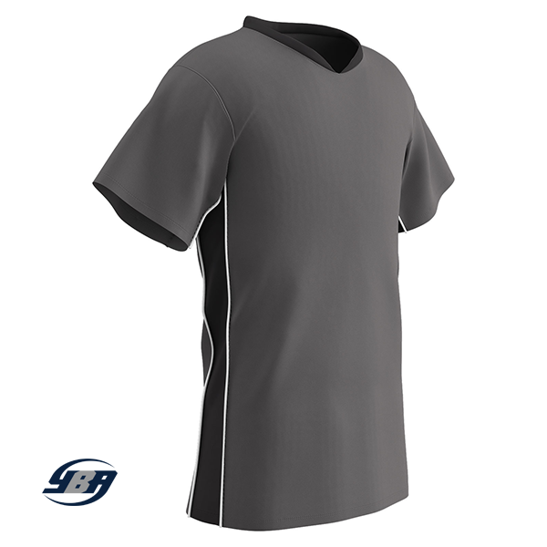 header soccer jersey grey with black