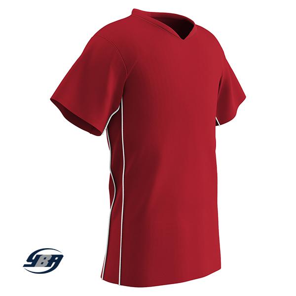 header soccer jersey red