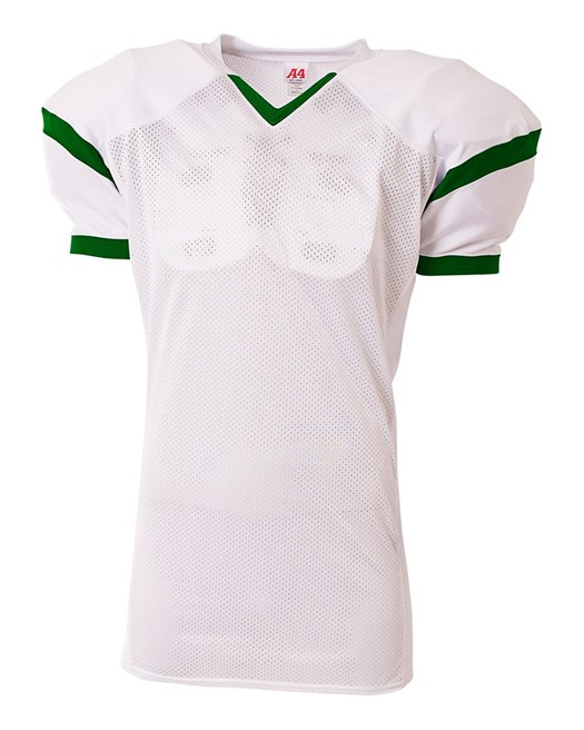 roll out game football jersey white with green