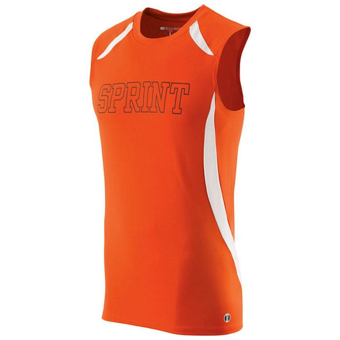 sprint singlet orange with logo