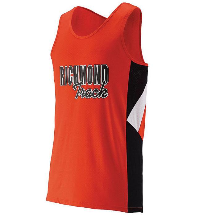 orange sprint jersey with logo