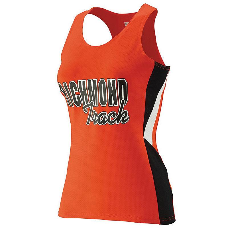 orange ladies sprint jersey with logo