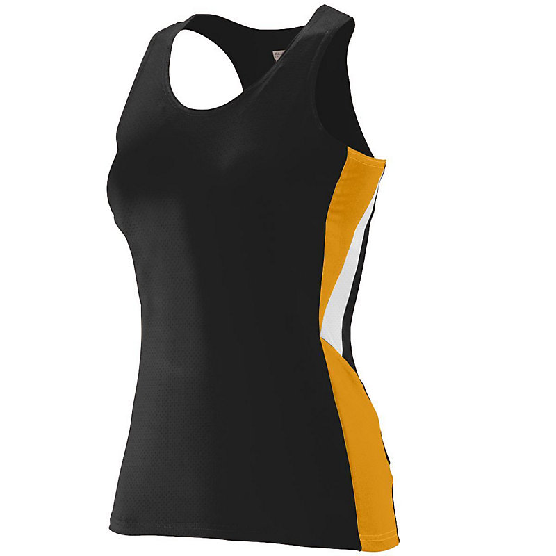 black with gold ladies sprint jersey