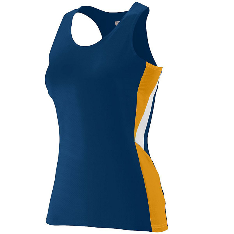 navy with gold ladies sprint jersey