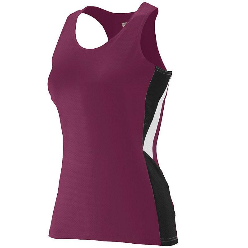 maroon ladies sprint jersey