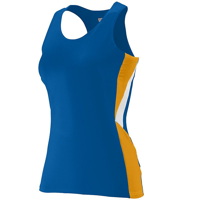 royal blue with gold ladies sprint jersey