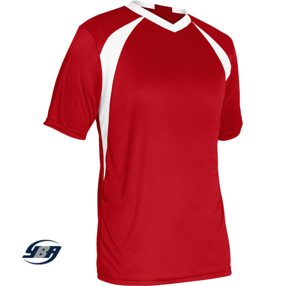 sweeper soccer jersey red