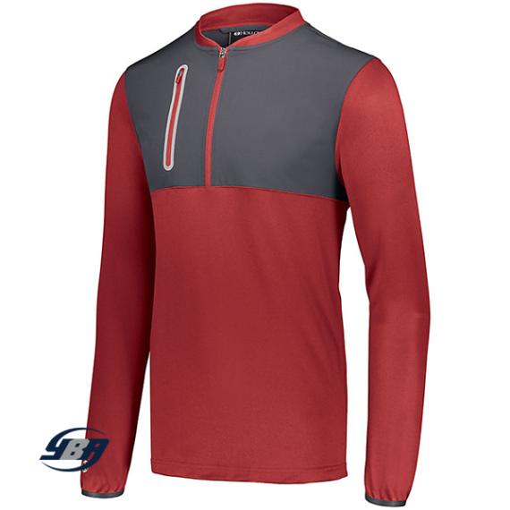 Weld Hybrid Pullover Red with Carbon