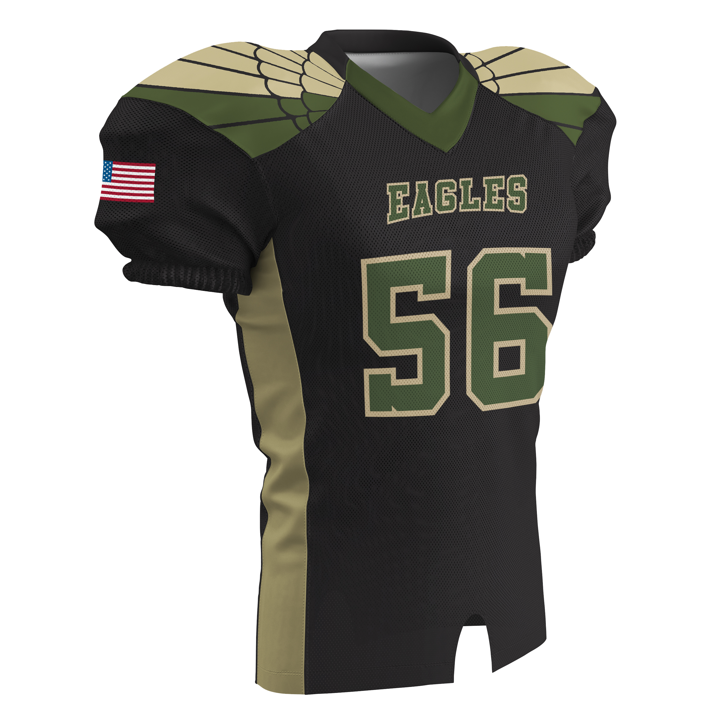 collegiate cut sublimated football jersey